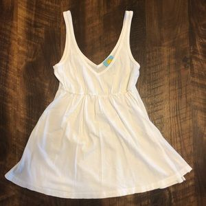 C&C White Empire Waist Tank Top Size Small NWOT